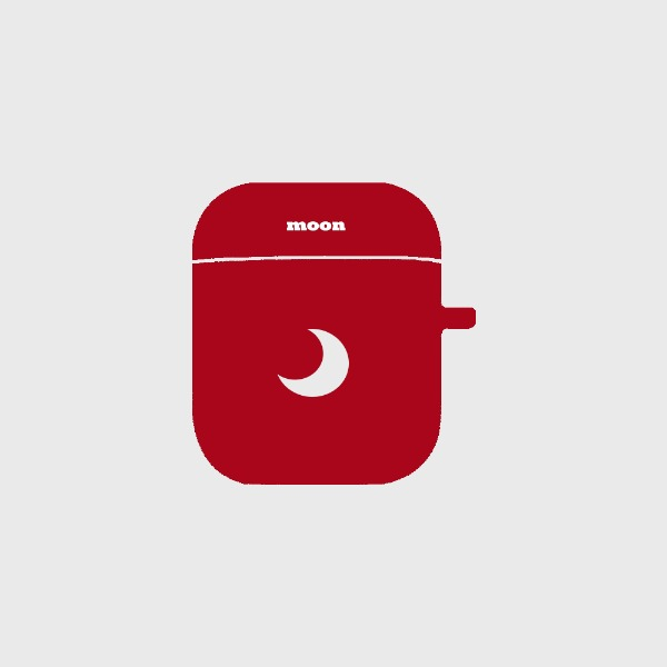 y o a, 폰케이스브랜드 moon red (airpod)